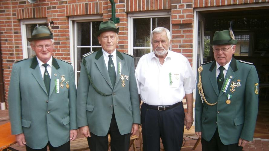 von links: Bernhard Lake, Walter Gersema, Walfried Hampf, Aloys Kalmer es fehlten: Alfons Altevers, Gerhard Karsch, Hermann Kuhrs, Anton Timmer