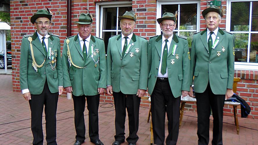 von links: Josef Huerkamp, Karl-Heinz Altevers, Alfred Wessels, Alois Vehring, Hermann Kuhrs (2015)