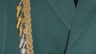 Goldene Schützenschnur mit allen Eicheln